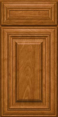 Square Raised Panel - Solid (AA1M) Maple in Golden Lager - Base