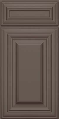 Square Raised Panel - Solid (AA1M) Maple in Greyloft w/ Sable Glaze - Base