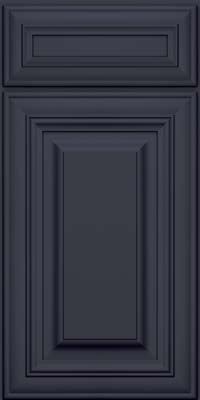 Square Raised Panel - Solid (AA1M) Maple in Midnight w/ Onyx Glaze - Base