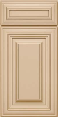 Square Raised Panel - Solid (AA1M) Maple in Mushroom - Base
