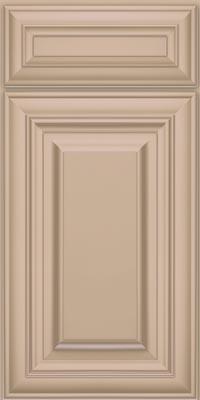 Square Raised Panel - Solid (AA1M1) Maple in Mushroom w/Coconut Glaze - Base