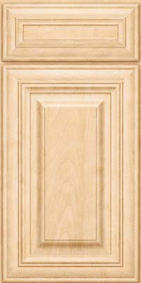 Square Raised Panel - Solid (AA1M) Maple in Natural - Base