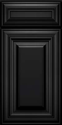 Square Raised Panel - Solid (AA1M) Maple in Onyx - Base