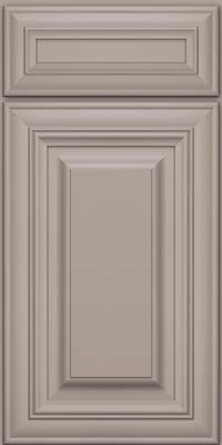 Square Raised Panel - Solid (AA1M) Maple in Pebble Grey - Base