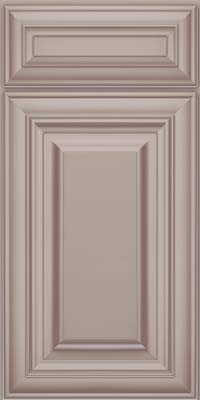 Square Raised Panel - Solid (AA1M) Maple in Pebble Grey w/ Cocoa Glaze - Base