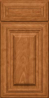Square Raised Panel - Solid (AA1M) Maple in Praline w/Mocha Highlight - Base