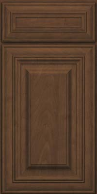 Square Raised Panel - Solid (AA1M) Maple in Saddle Suede - Base