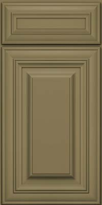Square Raised Panel - Solid (AA1M) Maple in Sage - Base