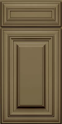 Square Raised Panel - Solid (AA1M) Maple in Sage w/Cocoa Glaze - Base