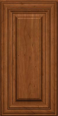 Square Raised Panel - Solid (AA1C) Cherry in Antique Chocolate w/Mocha Glaze - Wall