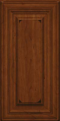 Square Raised Panel - Solid (AA1C) Cherry in Burnished Autumn Blush - Wall