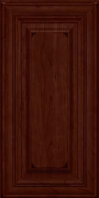 Square Raised Panel - Solid (AA1C) Cherry in Burnished Cabernet - Wall