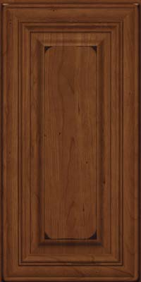 Square Raised Panel - Solid (AA1C) Cherry in Burnished Chocolate - Wall