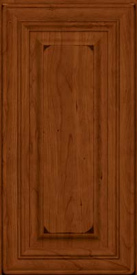 Square Raised Panel - Solid (AA1C) Cherry in Burnished Cinnamon - Wall