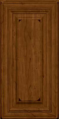 Square Raised Panel - Solid (AA1C) Cherry in Burnished Ginger - Wall
