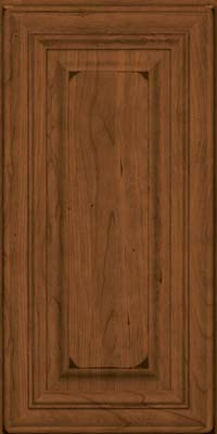 Square Raised Panel - Solid (AA1C) Cherry in Burnished Rye - Wall