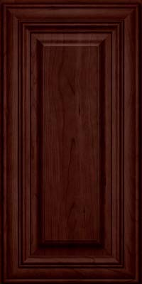 Square Raised Panel - Solid (AA1C) Cherry in Cabernet - Wall