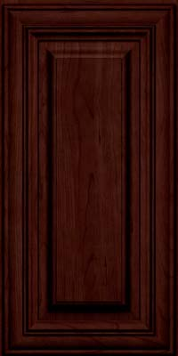 Square Raised Panel - Solid (AA1C) Cherry in Cabernet w/Onyx Glaze - Wall
