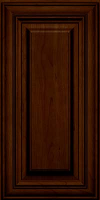 Square Raised Panel - Solid (AA1C) Cherry in Chocolate w/Ebony Glaze - Wall