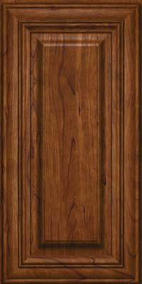 Square Raised Panel - Solid (AA1C) Cherry in Cognac - Wall