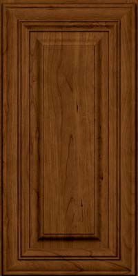 Square Raised Panel - Solid (AA1C) Cherry in Ginger w/Sable Glaze - Wall