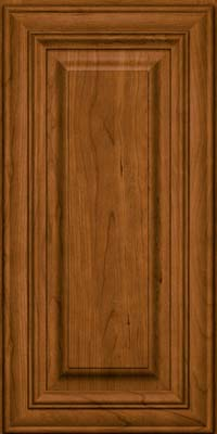 Square Raised Panel - Solid (AA1C) Cherry in Golden Lager - Wall