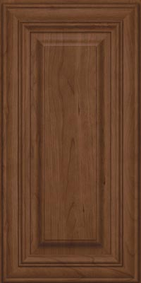 Square Raised Panel - Solid (AA1C1) Cherry in Hazel - Wall