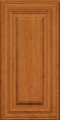 Square Raised Panel - Solid (AA1C) Cherry in Honey Spice - Wall