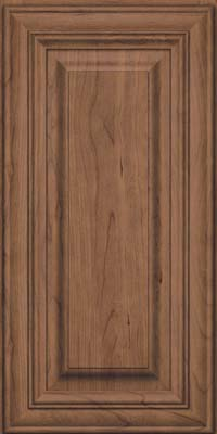 Square Raised Panel - Solid (AA1C) Cherry in Husk Suede - Wall