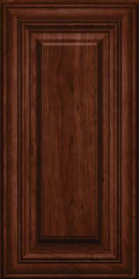 Square Raised Panel - Solid (AA1C) Cherry in Kaffe - Wall