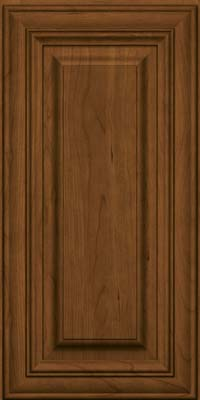 Square Raised Panel - Solid (AA1C) Cherry in Rye w/Onyx Glaze - Wall