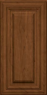 Square Raised Panel - Solid (AA1C) Cherry in Rye w/Sable Glaze - Wall