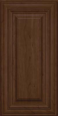 Square Raised Panel - Solid (AA1C) Cherry in Saddle Suede - Wall