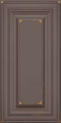 Square Raised Panel - Solid (AA1C) Cherry in Vintage Greyloft w/ Sable Patina - Wall
