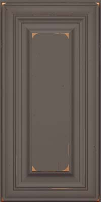 Square Raised Panel - Solid (AA1C) Cherry in Vintage Greyloft - Wall