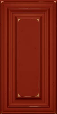 Square Raised Panel - Solid (AA1C) Cherry in Vintage Cardinal - Wall