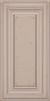 Square Raised Panel - Solid (AA1C1) Cherry in Vintage Chai w/Coconut Patina - Wall
