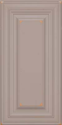 Square Raised Panel - Solid (AA1C) Cherry in Vintage Pebble Grey - Wall