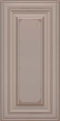 Square Raised Panel - Solid (AA1C) Cherry in Vintage Pebble Grey w/ Cocoa Patina - Wall