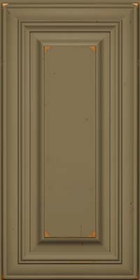 Square Raised Panel - Solid (AA1C) Cherry in Vintage Sage - Wall