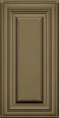 Square Raised Panel - Solid (AA1C) Cherry in Vintage Sage w/Onyx Patina - Wall