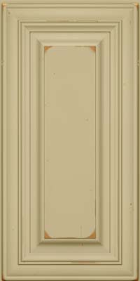 Square Raised Panel - Solid (AA1C) Cherry in Vintage Willow - Wall