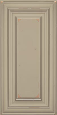 Square Raised Panel - Solid (AA1C1) Cherry in Vintage Willow w/Coconut Patina - Wall