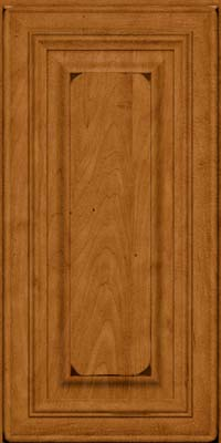 Square Raised Panel - Solid (AA1M) Maple in Burnished Golden Lager - Wall