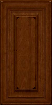 Square Raised Panel - Solid (AA1M) Maple in Burnished Chestnut - Wall