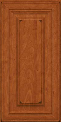 Square Raised Panel - Solid (AA1M) Maple in Burnished Cinnamon - Wall