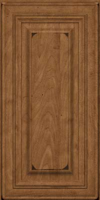 Square Raised Panel - Solid (AA1M) Maple in Burnished Rye - Wall