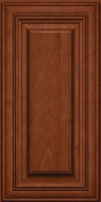 Square Raised Panel - Solid (AA1M) Maple in Chestnut w/Onyx Glaze - Wall