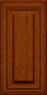 Square Raised Panel - Solid (AA1M) Maple in Cinnamon w/Onyx Glaze - Wall