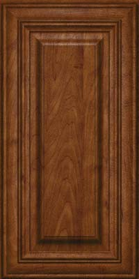 Square Raised Panel - Solid (AA1M) Maple in Cognac - Wall